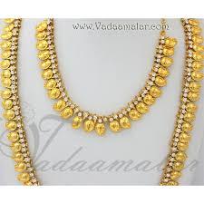 kerala style jhumka earrings mango necklace kerala design