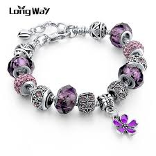 silver charm bead bracelet images Silver charm bracelets for women with crystal pandora style jpg