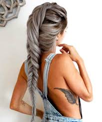 silver hair silver fishtail 17 silver hair looks that will make you want to
