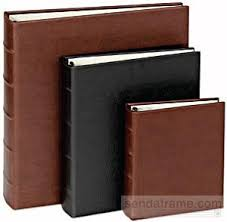 3 ring photo album rustico brown eco leather 1 up 3 ring album w slip in pockets br