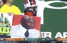 College Football Memes - the best college football play card signs emojis and memes and