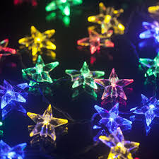 Rattan Star String Lights by Solar Christmas Lights Outdoor Christmas Lights Decoration