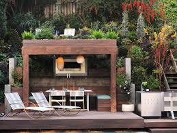outdoor living best patio decor idea with dark modern wooden