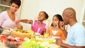 ethnic family eating healthy low fat lunch royalty free video and