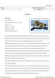 primaryleap co uk reading comprehension leopard worksheet