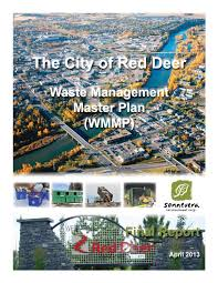 waste management master plan 2013 pdf by the city of red deer issuu