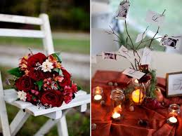 Fall Table Decorations For Wedding Receptions - autumn bridal bouquet and diy wedding reception table centerpieces