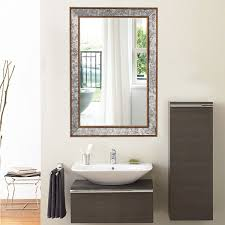 large black framed mirror metal framed mirrors bathroom small