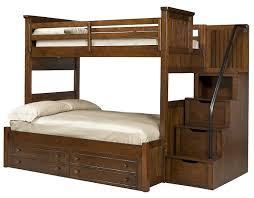 Jefferson Twin Over Full Stairway Bunk Bed - Stairway bunk bed twin over full