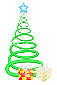 spiral tree with gifts boxes vector royalty free stock