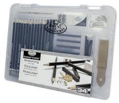 34pc sketch drawing pencil set sketching art kit royal langnickel