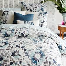 organic stained glass floral shams west elm
