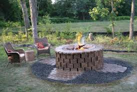 Square Firepit Backyard Stunning How To Build A Backyard Pit Out Of Bricks