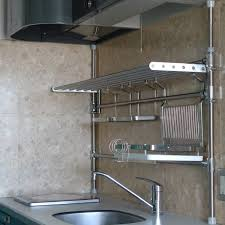 wall mount stainless steel shelves wall shelf on the wooden wall