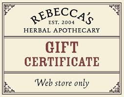 online gift certificates gift certificates s herbal apothecary