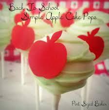 simple apple design cake pops pint sized baker