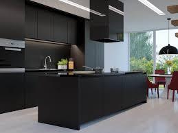 Matte Black Kitchen Cabinets Kitchen Industrial Black Kitchen White Feature Extractor Fan