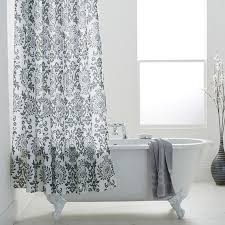 Charcoal Shower Curtain Damask Shower Curtains Charcoal Bathstore