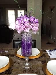 purple centerpieces purple centerpiece mock idea