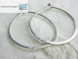 silver hoop earrings silver hoops classic silver hoop earrings self closing hoops