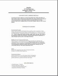 Foreman Resume Example by Construction Foreman Sample Resume Resumecompanion Com Chicago