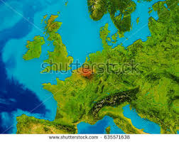 physical map of belgium belgium highlighted on physical map stock illustration