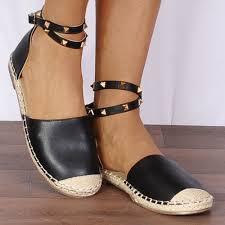 shoe closet womens black espadrille ladies fizz1 black wrap