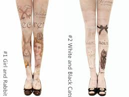 color printing tattoo tights free ship spreepicky online store