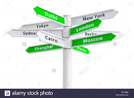 travel directions images International cities travel directions on green crossroads sign jpg