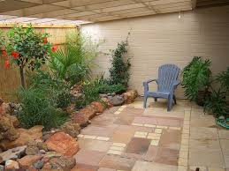 Garden Brick Wall Design Ideas Exterior Comfortable Covered Patio Garden Design Ideas Using
