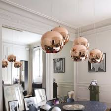 Pendant Lighting Copper Modern Plating Glass Pendant Lights Copper Sliver Gold