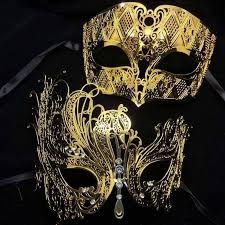 black and gold masquerade masks party masks black silver white gold diamond metal