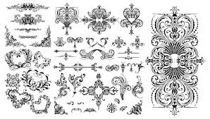 floral ornaments vector vector frames borders vector ornament