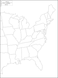 United States Map Black And White by United States Map East Coast Outline Maps Of Usa