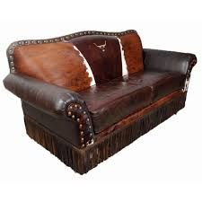 Western Leather Chair An Above View Of A Living Room With A Cowhide Rug This Living Room