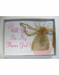 will you be my flower girl gifts will you be my flowergirl crown necklace gift set will you be