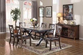 earvin espresso 7 pc dining room set