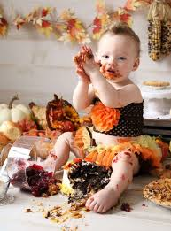 festive babies celebrate their 1st thanksgiving with turkey smash