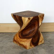 carved wood end table end table carved wood big twist home and garden design ideas