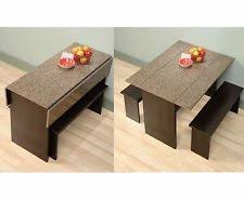 space saver table set drop leaf kitchen table set w 2 stools space saver small eat in