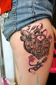 4 beautiful lock and key tattoos for