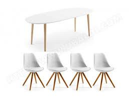 table et 4 chaises ensemble table et chaises lf table oakland 4 chaises lars blanches