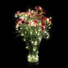 flower arrangements with lights 10m 100 led 3aa battery powered outdoor timer led silver color
