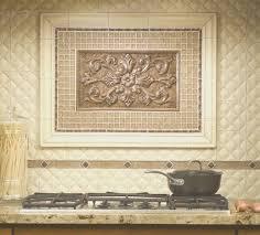 backsplash view medallion tile backsplash amazing home design