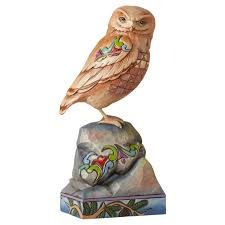 jim shore halloween jim shore owl perched on rock figurine figurines hallmark