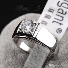 rings with crystal images New fashion 2016 swarovski crystal men ring white 18k gold jpg