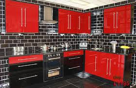kitchen wall cabinets black gloss used kitchen cabinets black tile wall design apron front