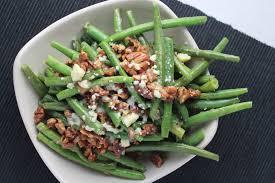 pecan bacon and blue cheese green bean recipe