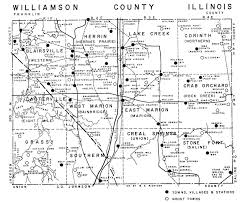 A Map Of Illinois by Ghost Town Map Of Williamson County Small Marion Illinois