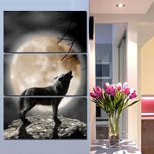 online get cheap wolf moon oil painting aliexpress com alibaba
